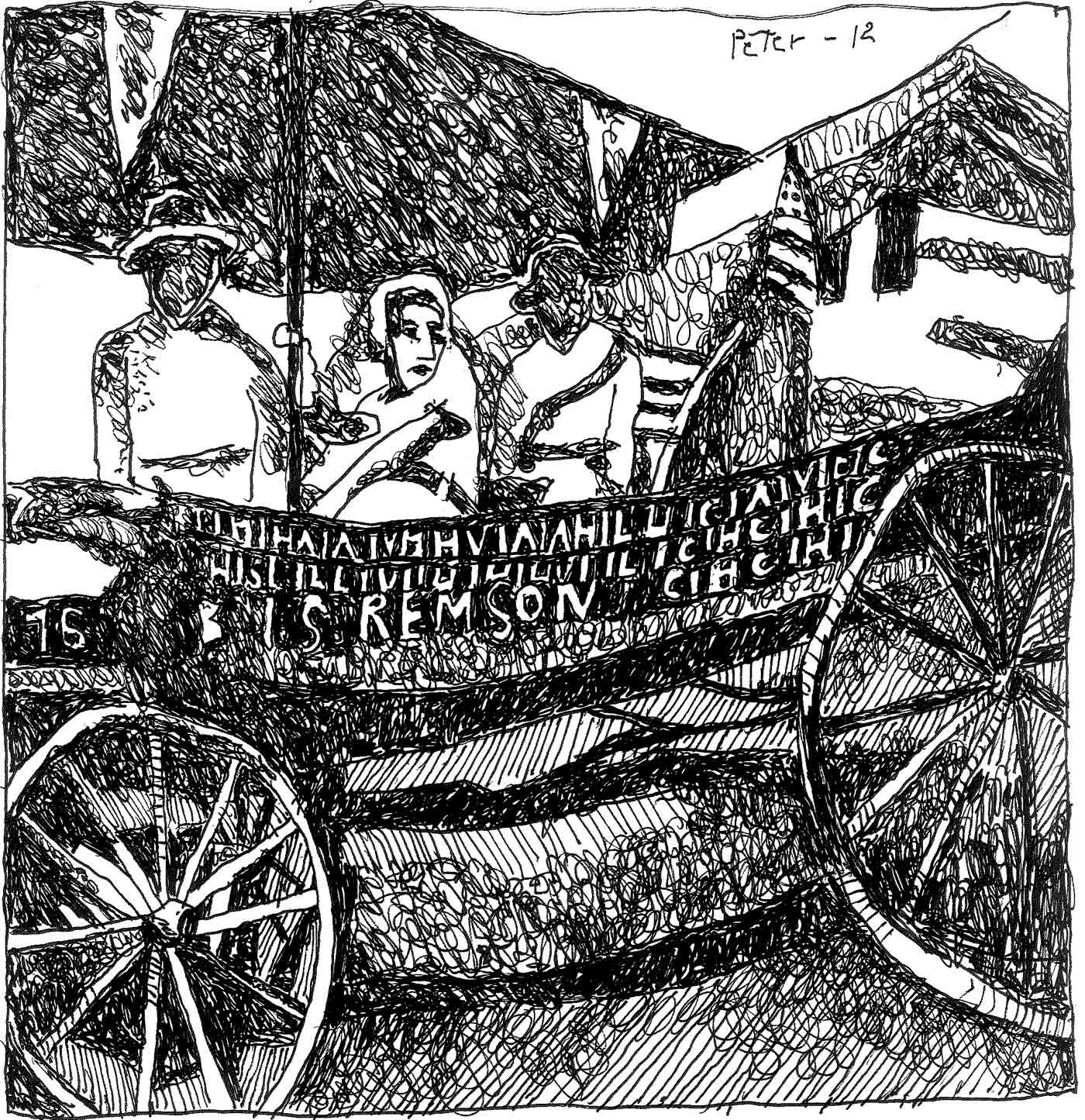 "Image of ""Spirit of 1776"" suffrage wagon by Peter Sinclair"