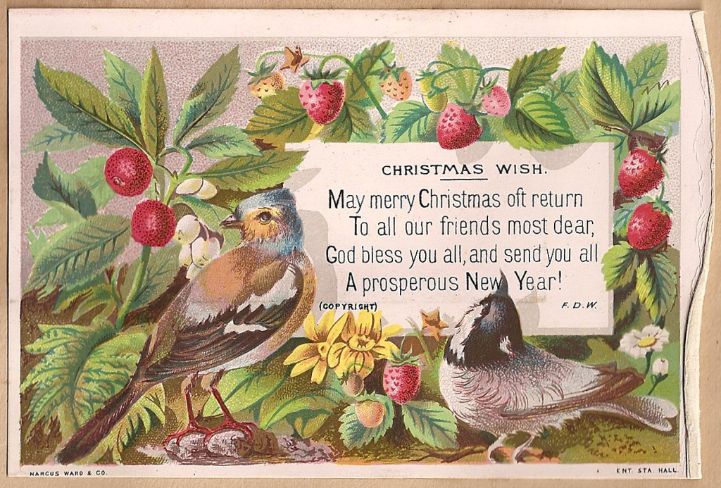 Vintage holiday card