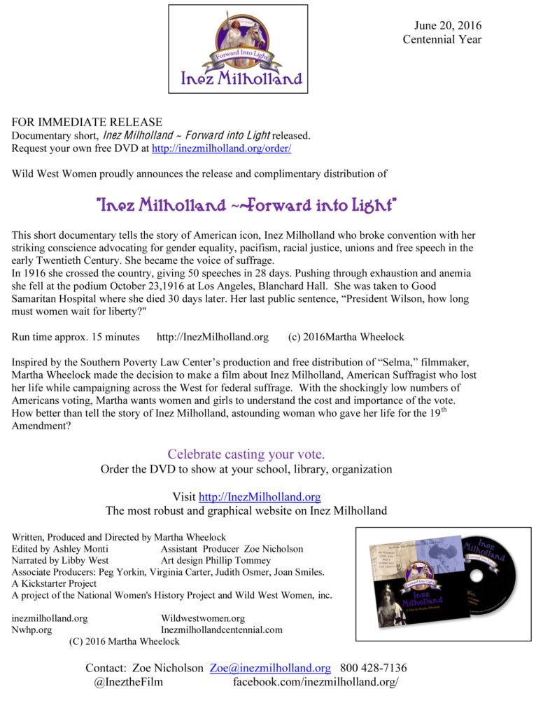 Press Release Inez Milholland June 20 (13) (dragged)