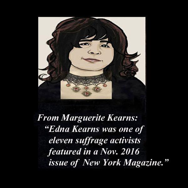 Edna Kearns' suffrage work featured